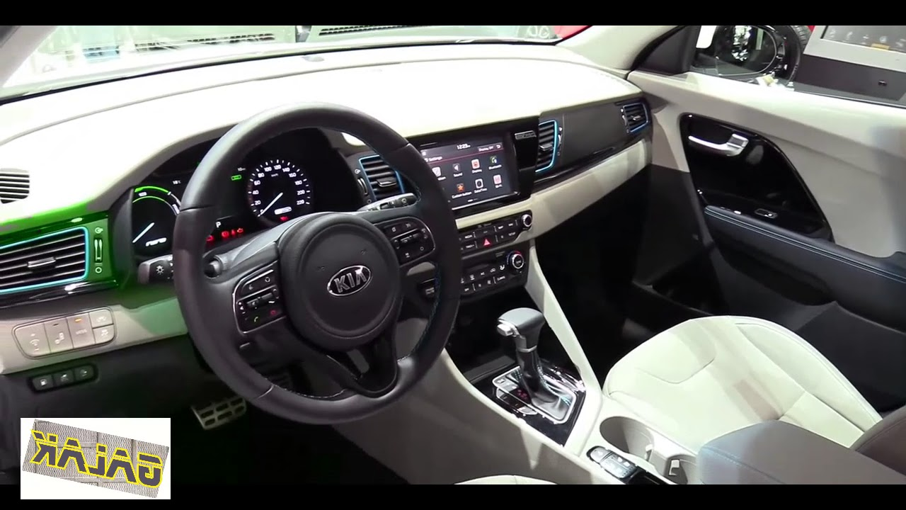 2018 kia niro plug in hybrid interior youtube. Black Bedroom Furniture Sets. Home Design Ideas