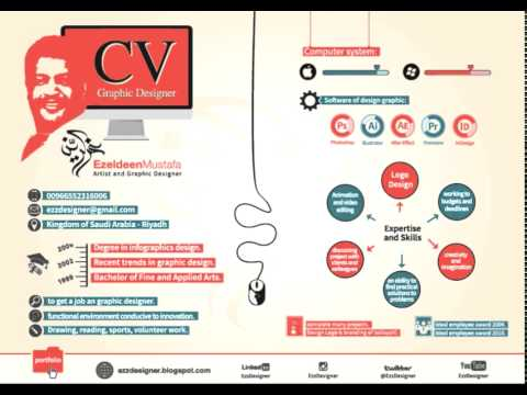 C V Graphic Designer - YouTube