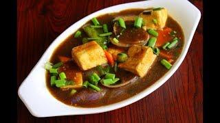 paneer chilli gravy hotel style - how to make paneer chilli - chinese recipes