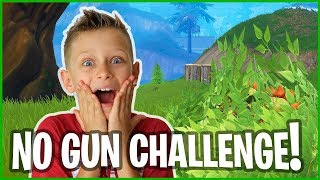 The NO GUN CHALLENGE! Fortnite Battle Royale without a GUN?!?