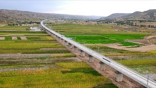 This high-speed railway comes as China is striving to boost connect...