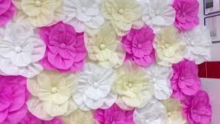 Бумажные цветы из тишью, фотозона