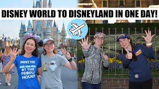 ALL 6 U.S. DISNEY PARKS IN ONE DAY! Disney World to Disneyland Coast to Coast Challenge!