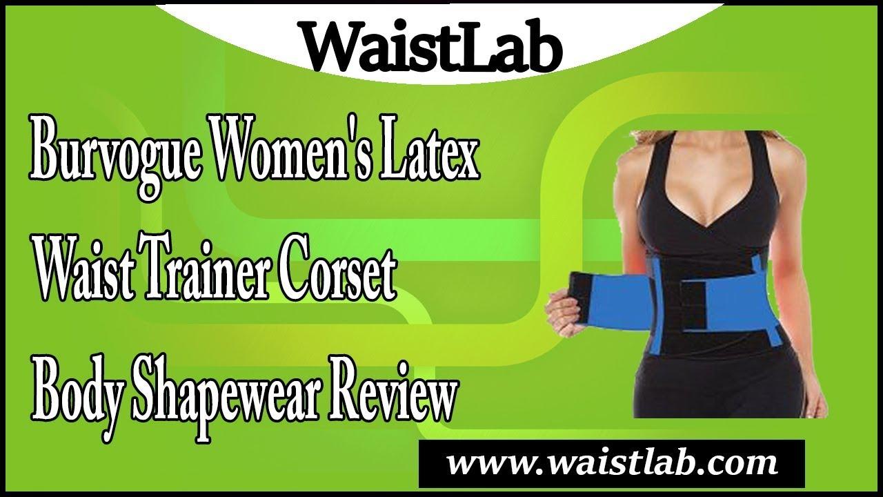 e185648fa7c09 Burvogue Women s Latex Waist Trainer Corset Body Shapewear Review ...