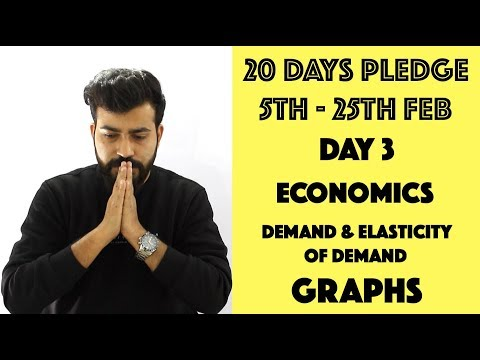 Day- 3 - Demand and Elasticity of Demand - Graphs - class 12th #20dayspledge #commercebaba