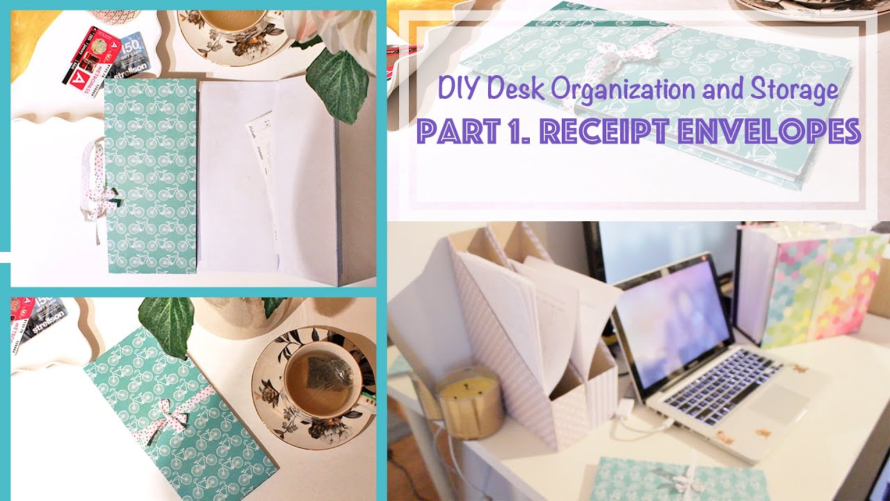 diy accordion book receipt envelopes desk organization and storage ideas 1 youtube. Black Bedroom Furniture Sets. Home Design Ideas