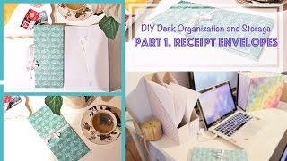 Diy Accordion Book / Receipt Envelopes - Desk Organization And Storage Ideas (1)