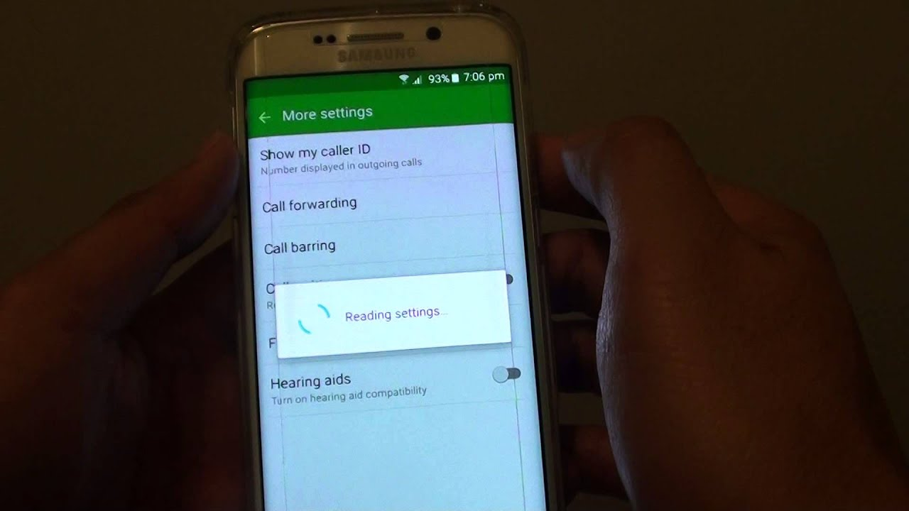 Samsung Galaxy S6 Edge How to Enable Disable Caller ID