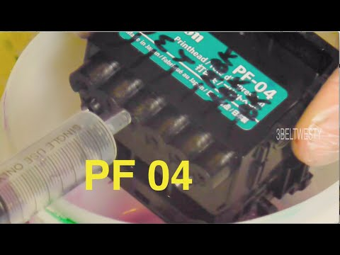 Canon PF04 printhead unclog with magic bullet