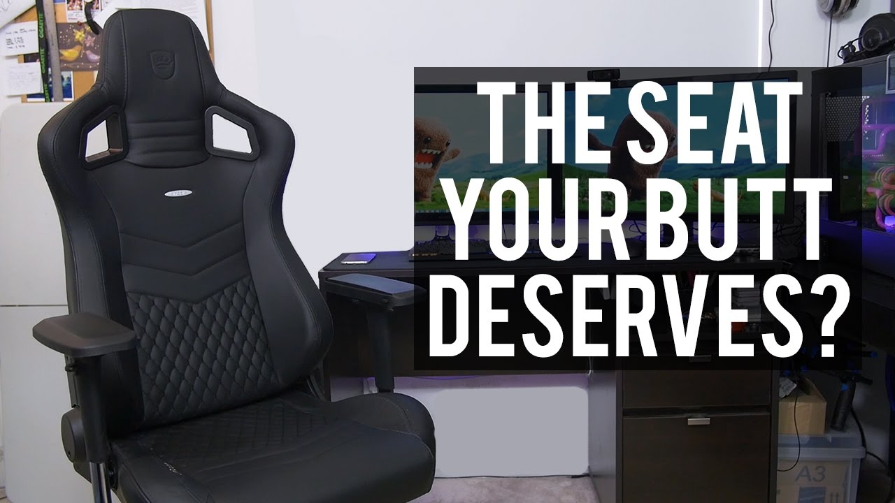 Epic Win Noblechairs Epic Series Real Leather Gaming Chair Youtube