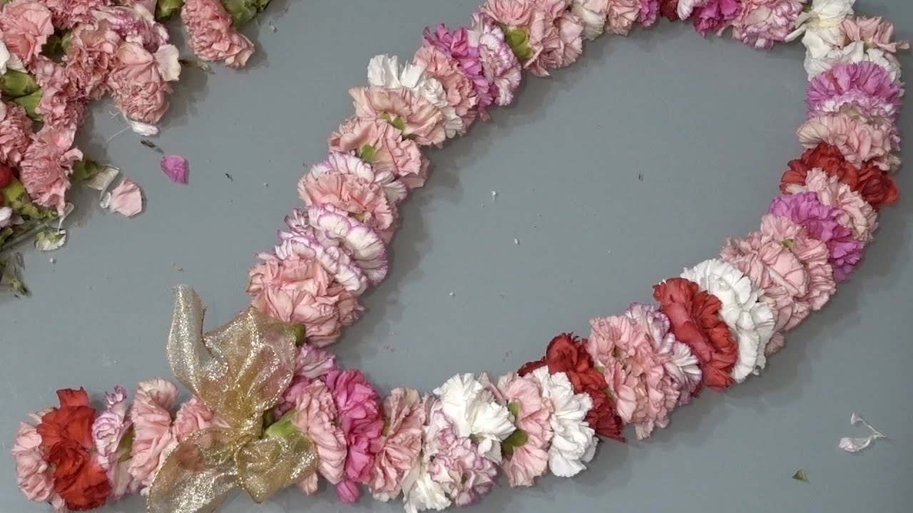 How To String A Fresh Flower Garland Youtube