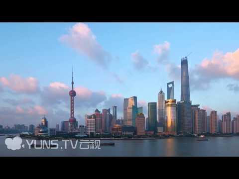 Shanghai Lujiazui And the Bund Skyline Timelapse Footage(4K)