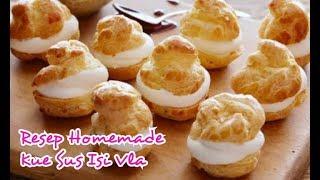 Gambar cover Resep Cara Membuat Kue Sus Isi Vla - Sederhana, Lembut & Enak