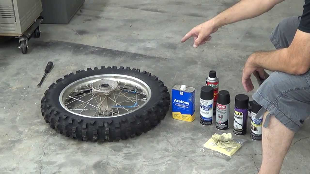 how to paint dirt bike wheels klx 351 katsumi mv. Black Bedroom Furniture Sets. Home Design Ideas