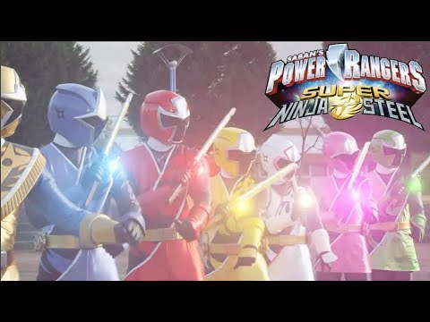 Power Rangers Super Ninja Steel Green Ranger Vs Gold Ranger