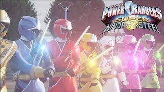 Power Rangers Super Ninja Steel Green Ranger Vs Gold Ranger