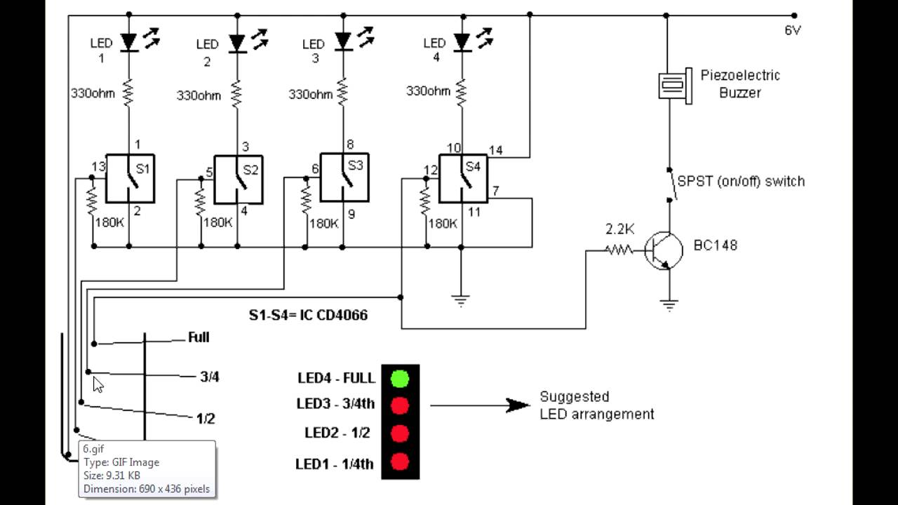 how to make a water level indicater youtube rh youtube com water tank level controller circuit diagram water tank level indicator circuit diagram
