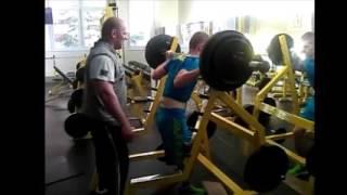 Silovy trening drep 110kg x 5