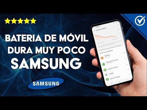 La Batería de mi Móvil Samsung dura poco y se Descarga Rápido - Solución