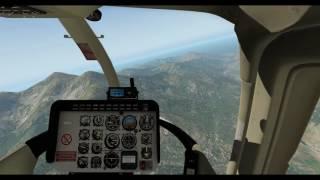 X-Plane 11 -- Bell-206 Jet Ranger III -- Emergency Landing - Auto-Rotation -- (Corsica LFKC)