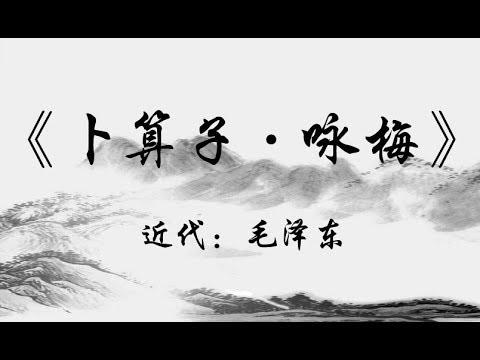 毛泽东诗词咏梅_中国古诗词《卜算子·咏梅》|近代:毛泽东 - YouTube