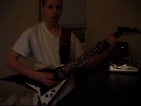 Very heavy guitar riffs.