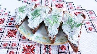 Сало перетертое с чесноком идеальная закуска Сало перетерте з часником Закуска из сала Страви з сала