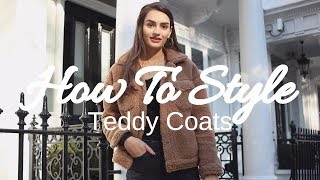 How To Style Teddy/Shearling Coats | Peexo