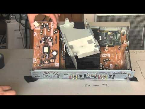 Panasonic DMR-E85H DVR repair, failed C1260 and C1261 capacitors