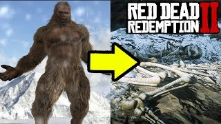 BIG FOOT FOUND IN RED DEAD REDEMPTION 2! Sasquatch Big Foot Location RDR2
