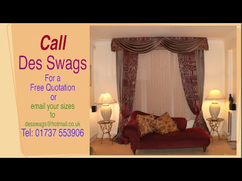 The installation of Swags, Curtains, Pelmet board & Vertical Blind