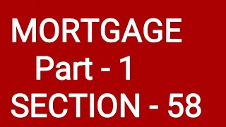 MORTGAGE  #Part-1