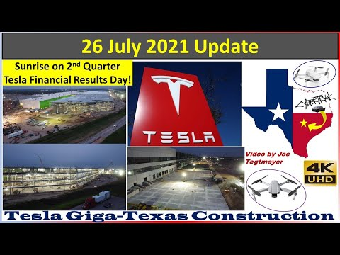 Tesla Gigafactory Texas 26 July 2021 Cyber Truck U0026 Model Y Factory Construction Update (07:30AM)