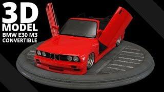 BMW E30 M3 Convertible - Gusheshe  -- 3D Model | Tlatso-Son