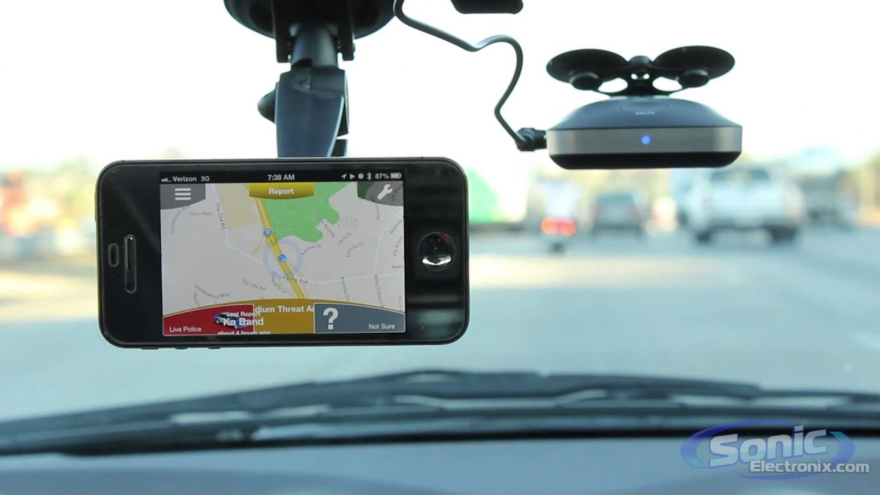 Cobra iRad200 Radar and Laser Detector | Android and iPhone Compatible w/  Bluetooth