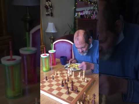 Phil playing chess