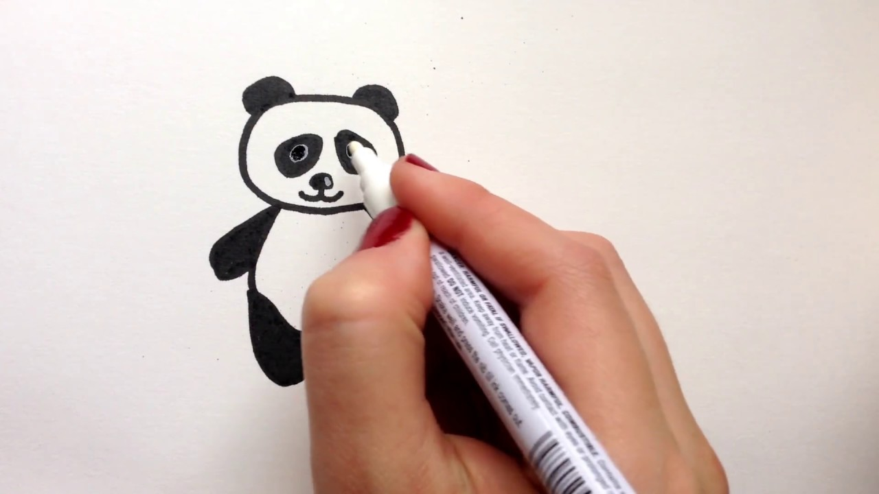 How To Draw Cute Panda Panda Nasil Cizilir Youtube