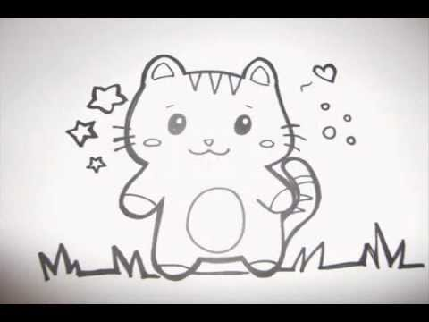 How to make a cute kitty doodle youtube