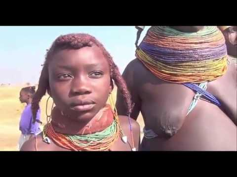 Himba and Hamer indians in Africa