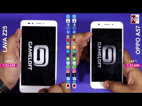 Oppo A57 vs Lava Z25 Speed Test and Multitasking Comparison