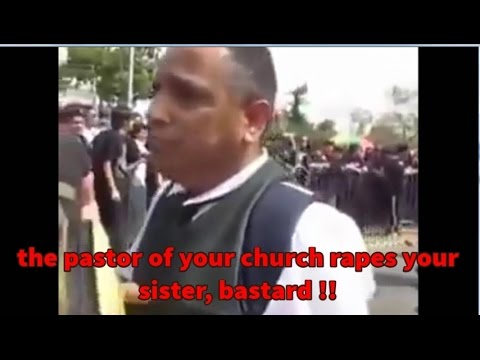 Metalheads attack Christian Preacher. YOU MUST TO SEE IT !!