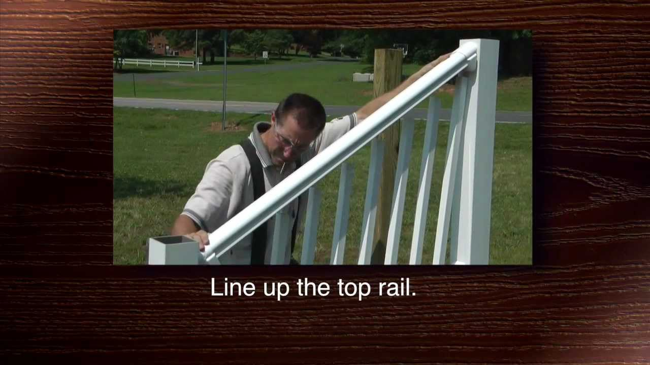 Stair Installation Tips Youtube   Vinyl Stair Railing Lowes   Porch   Baluster   Concrete   Wrought Iron   Wood