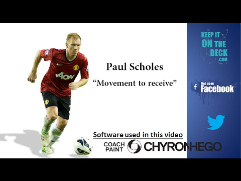 "Paul Scholes Soccer Analysis - ""Dropping to Receive"""