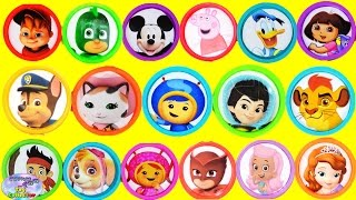 learn colors disney nick jr umizoomi pj masks dora toys play doh surprise egg and toy collector setc