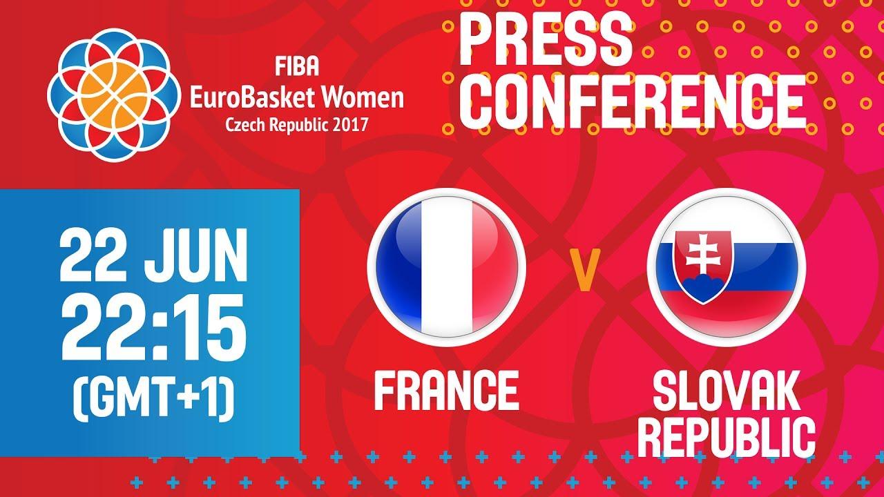 France v Slovak Republic - Press Conference - Quarter Final