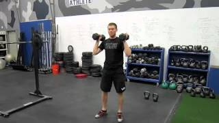 Dumbbell Hang Squat Clean to Thruster