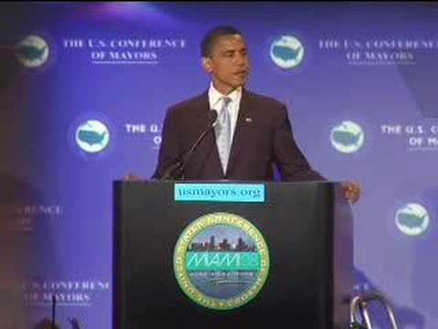 Barack Obama at U.S. Mayor's Conference
