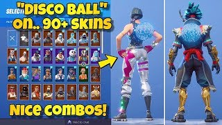 "NOUVEAU ""DISCO BALL"" BACK BLING Showcased With 90 'SKINS! Fortnite Battle Royale - NOUVEAU DISCO DIVA SKIN"