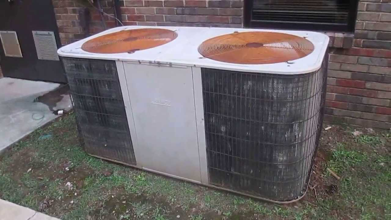 Old Lennox Split System Hvac Unit Youtube