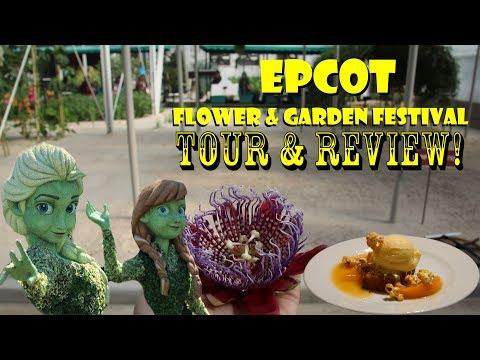 EPCOT International Flower & Garden Festival 2018 Tour,  Food Tasting, Interviews, & Review!